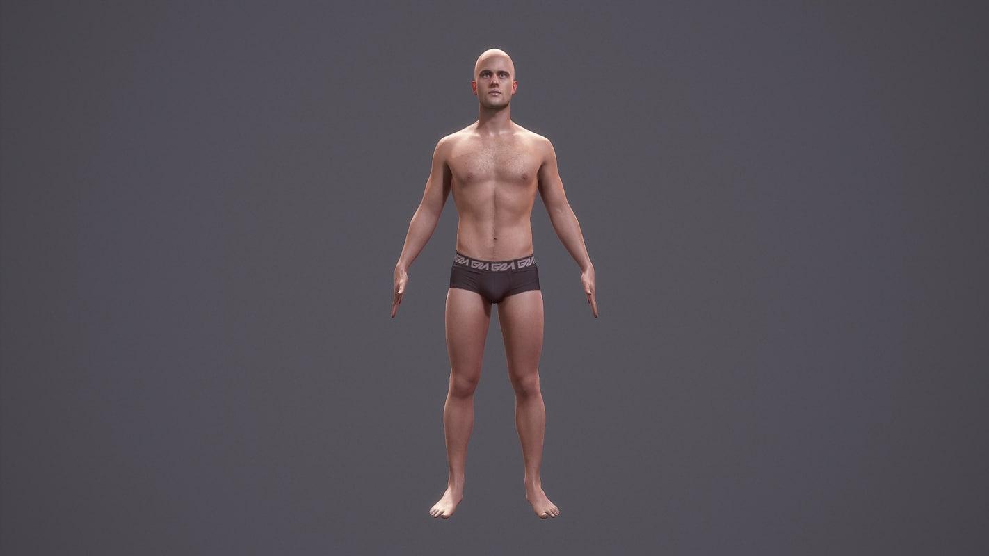 Man Character Body Anatomy 3d Model