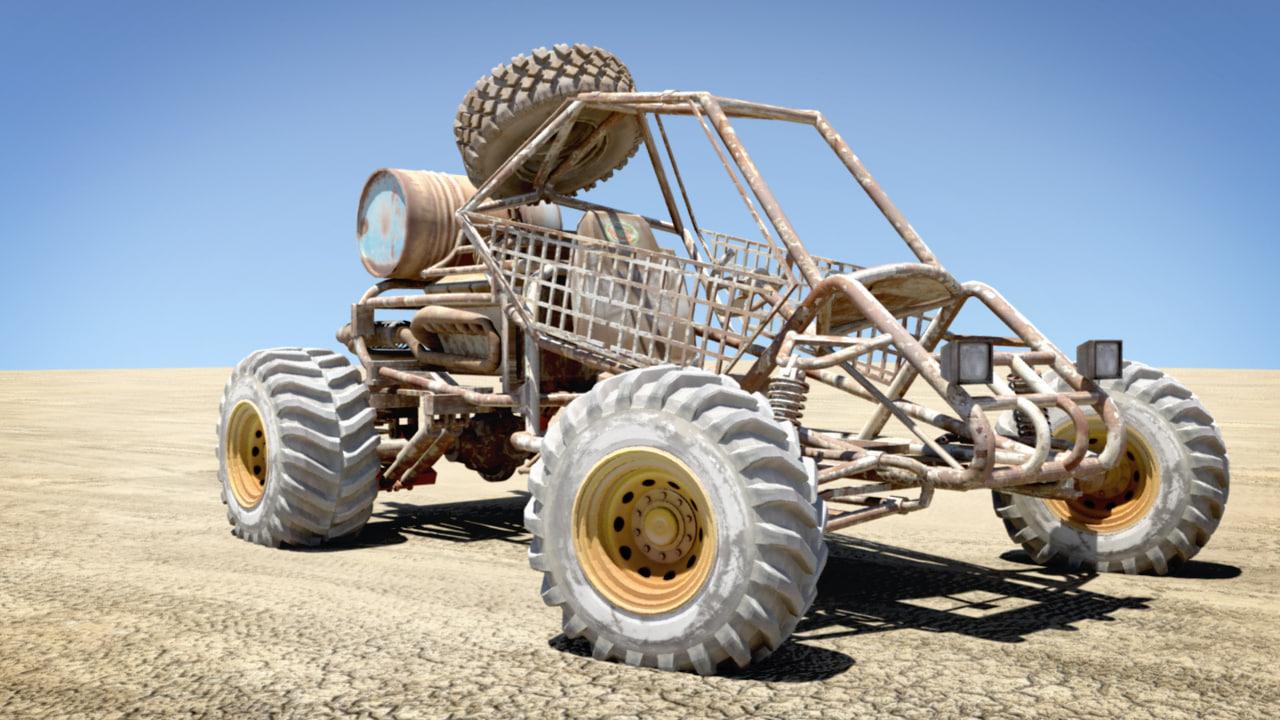 apocalyptic desert buggy 3d model