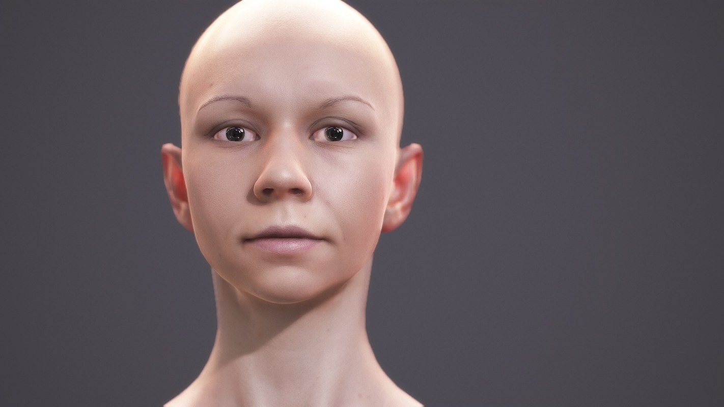 3d model of character human - scans