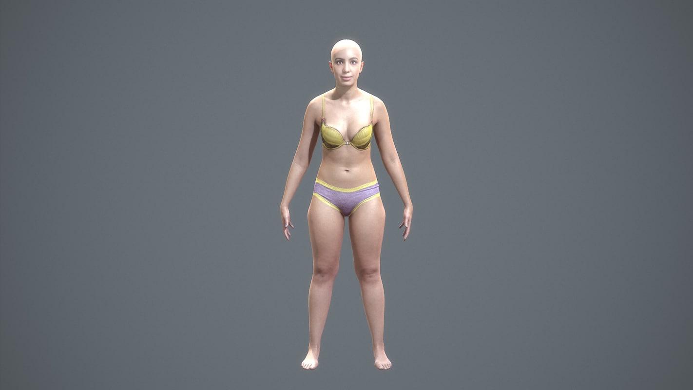 character human - scans fbx