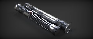 3d jedi quigon jinn lightsaber model