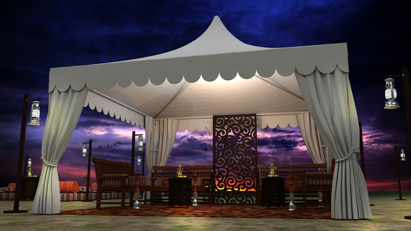 event tents arabic 3d max
