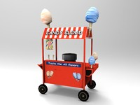 max cotton candy cart