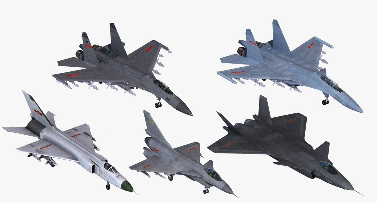 chinese tactical fighter aircraft 3d model