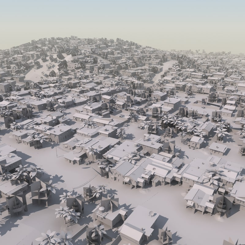 shanty slum mass modeled 3d 3ds