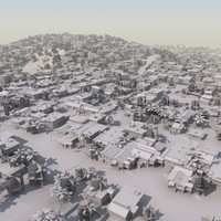 shanty slum mass modeled 3d 3ds