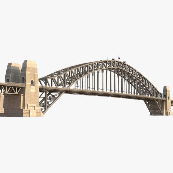 3d model sydney harbour bridge