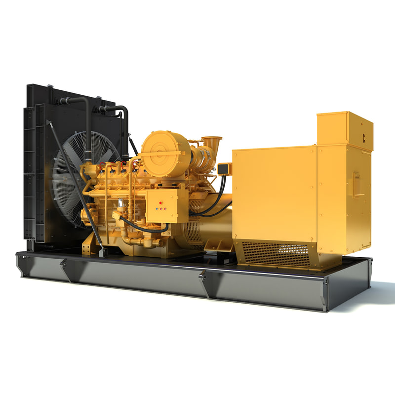 3d model gas generator engine modeled