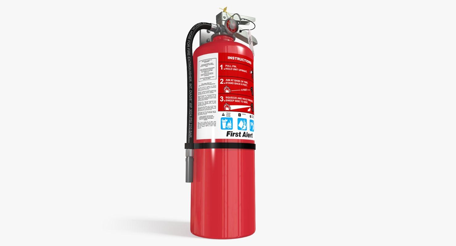 extinguisher safety 3d model