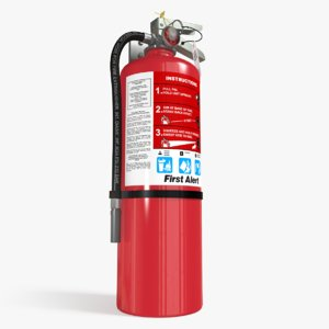 extinguisher safety 3d model