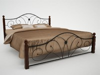 3d model of wrought iron bed