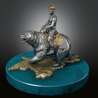 "statuette ""Rider on the bear"
