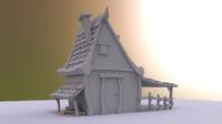 free house cartoon 3d model