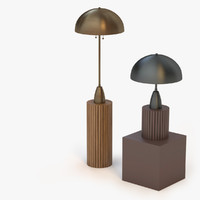 3d model of column lamp apparatus