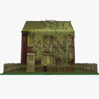 3d 3ds old brick house ivy