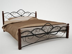 3d wrought iron bed model