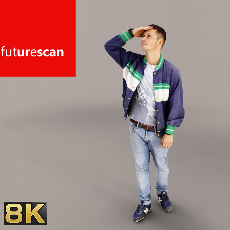 photorealistic scan people 3d model