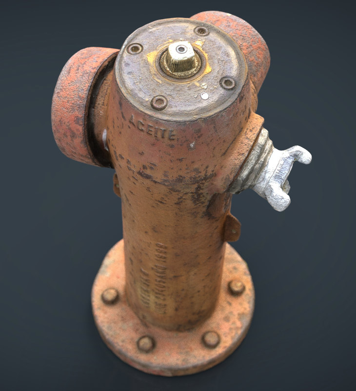 3d realistic hydrant model