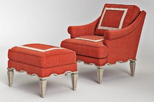 ambella palm beach chair 3d model