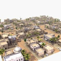 3ds max arab streets construction buildings