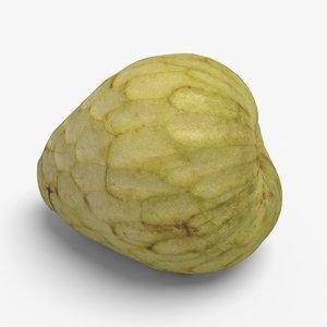3d custard apple