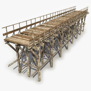 wooden bridge 3 max