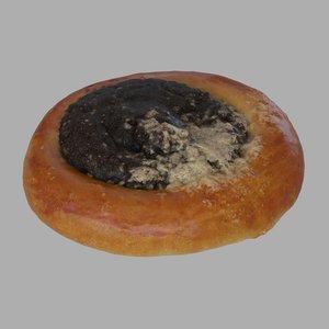 poppy pastry 3d model