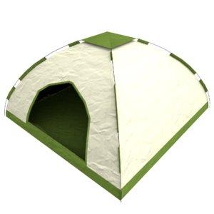 tent asset ready 3d model