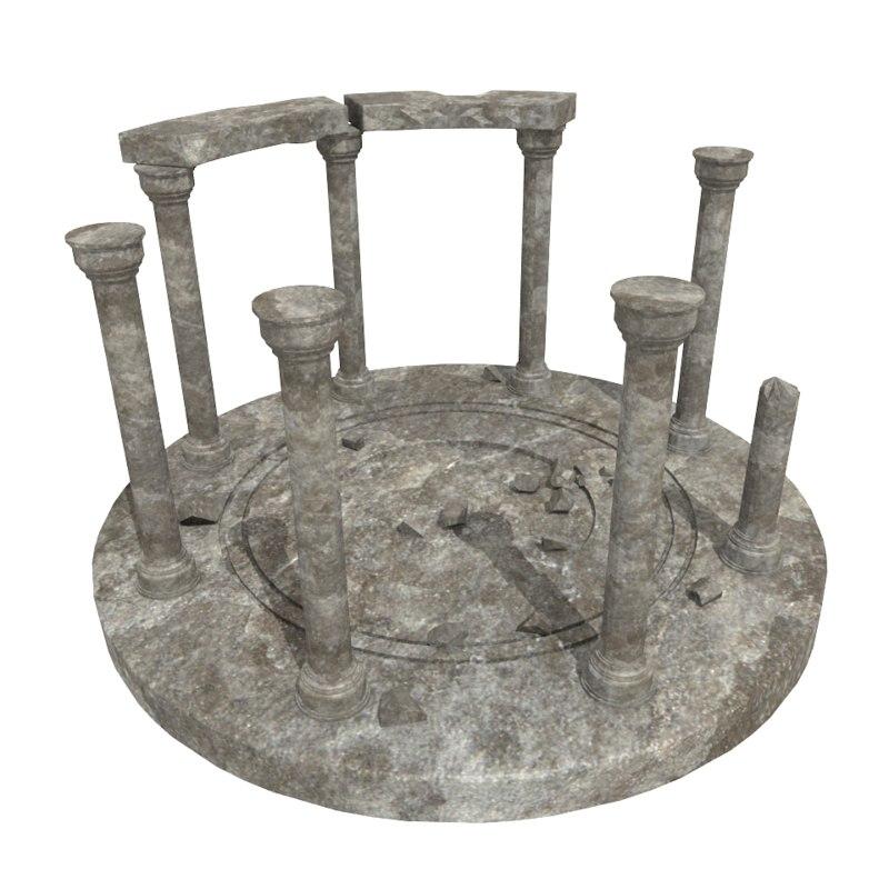 old shrine 3d model