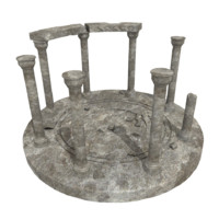 old shrine 3d model