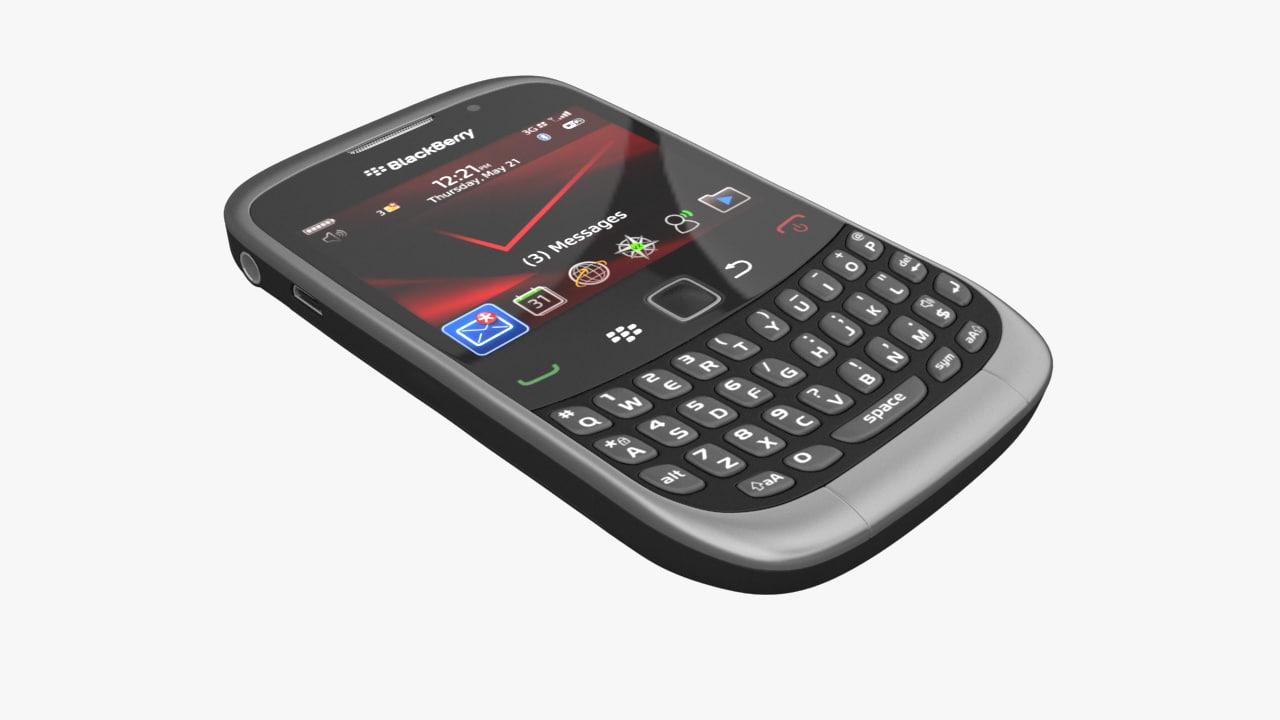 3d model blackberry curve