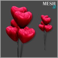 heart balloon 3d 3ds
