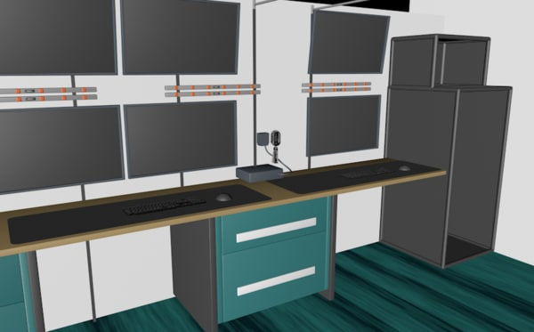 control room office c4d