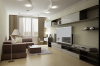 3d livingroom room model