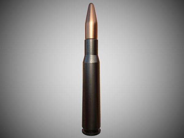 3d rifle ammo model
