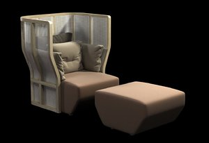 3ds chair bosc secluded