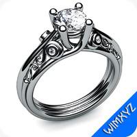 free ring jewelry gem 3d model