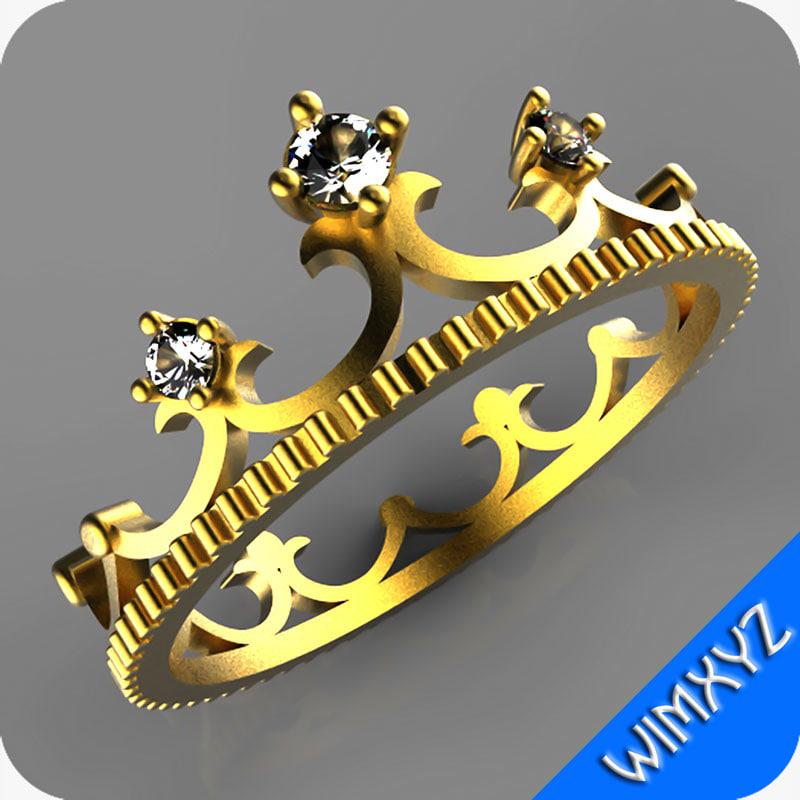 ring jewelry gem 3d model