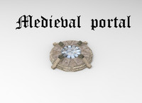 Lowpoly  medieval portal