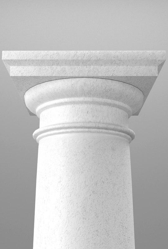 3d tuscan column model
