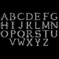 3d model decorative alphabet