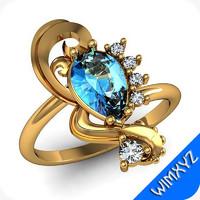 3d 3dm ring jewelry gem