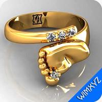 3d ring jewelry gem model