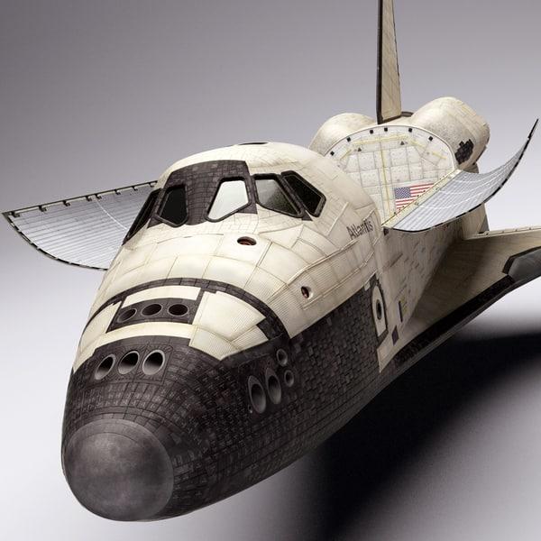 space shuttle 3d obj