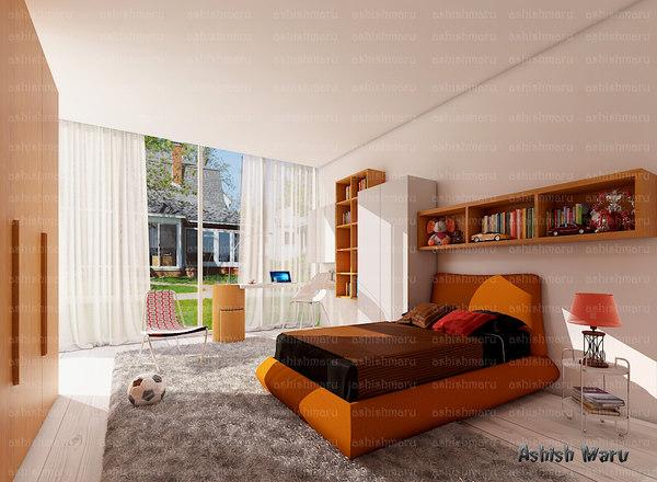 bedroom 3d fbx