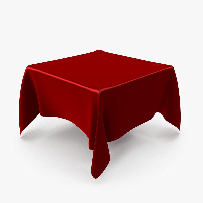 3d table tablecloth cloth model