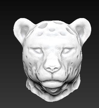 obj leopard head