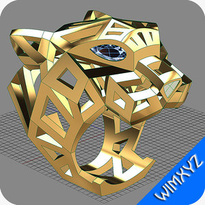 3d 3dm ring jewelry gold