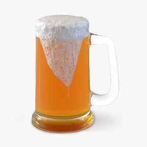 overflowing beer mug 3ds
