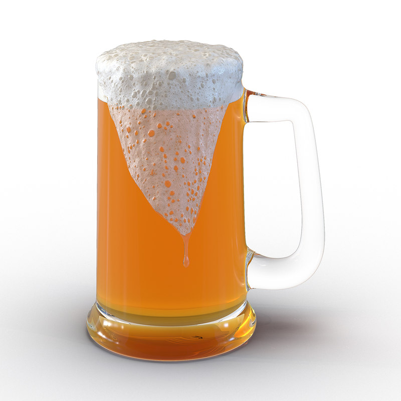 overflowing beer mug 3ds